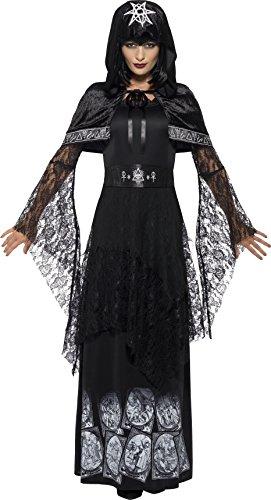 Sorceress Plus Size Costumes (Smiffy's Women's Black Magic Mistress Costume, Dress, Belt and Cape, Legends of Evil, Halloween, Plus Size 18-20, 45203)