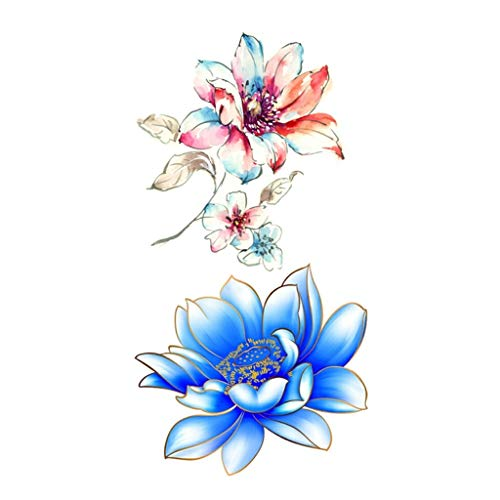 SUJING Flowers Tattoos Waterproof Body Temporary Tattoos Sticker Removable | Flower Tattoo Sticker]()