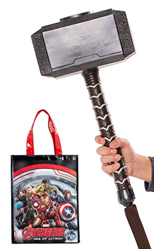 Rubie's Avengers Thor Molded Hammer and Tote Bag ()