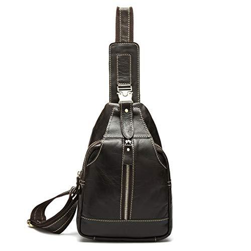 pelle moda da viaggio colore a Tasche metropolitana da nero tracolla marrone in casual taglia pelle Borsa borsa in Nero uomo tasche 1qF76z
