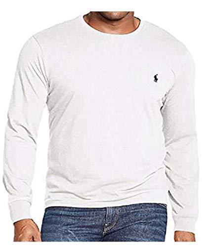 Polo Ralph Lauren Men's Long Sleeve Pony Logo T-Shirt - Large - White (Polo Ralph Lauren T Shirts Women)