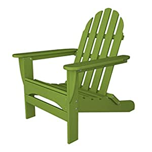 "37.75"" Recycled Earth-Friendly Outdoor Patio Adirondack Chair - Lime Green"