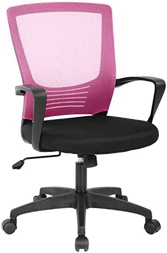 Office Chair Ergonomic Cheap Desk Chair Mesh Computer Chair Rolling Swivel Modern Executive Chair Adjustable Stool Back Support