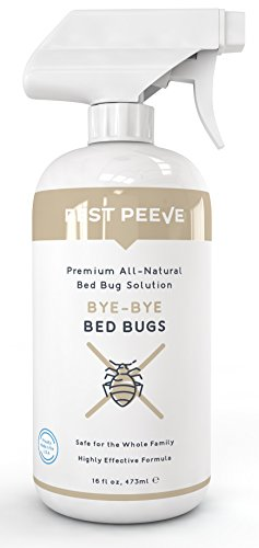 Bed Home Treatment Bugs (Pest Peeve Bye-Bye Bed Bugs - Powerful, Natural Bedbug Killer Spray - Home Defense Treatment - Eco-Friendly and Safe for The Family (16 oz))