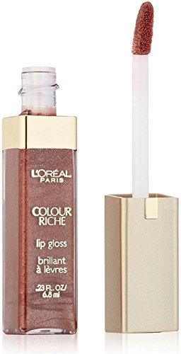 L'Oreal Paris Colour Riche Lip Gloss, Rich Brown 0.23 oz (Pack of 2) (Color Lip Rich)
