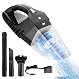 FEEGO Handheld Vacuum Cordless, 7KPa Hand Vacuum Cleaner Rechargeable Hand Vac, 12V Lithium with Quick Charge, Lightweight Wet Dry Vacuum for Home Pet Hair Car Cleaning (Upgraded Version)
