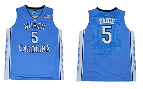 CRISGIORD 2016 Men's North Carolina Tar Heels Basketball Jersey NO.5 Marcus Paige Carolina Blue S