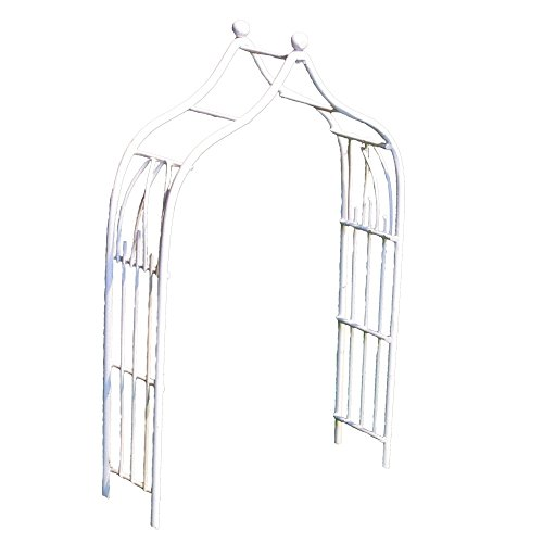 Provence AF2623 Iron Mini Fairy Garden Arbour, Cream