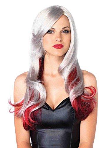 Leg Avenue Adjustable Allure Multi Color Long Wavy Wig Bundle with Stockings (Allure Multi Color Long Wavy Wig)