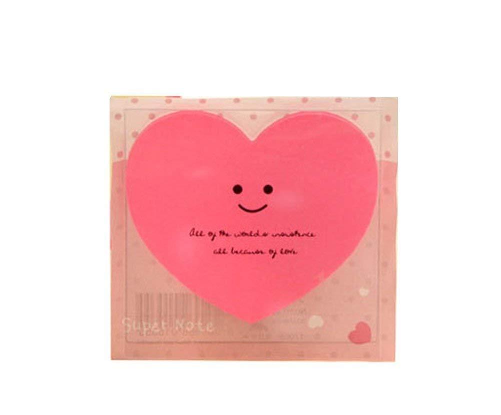 Heart Design Self Stick Notes Desk Organiser Set for Office Durable and Useful
