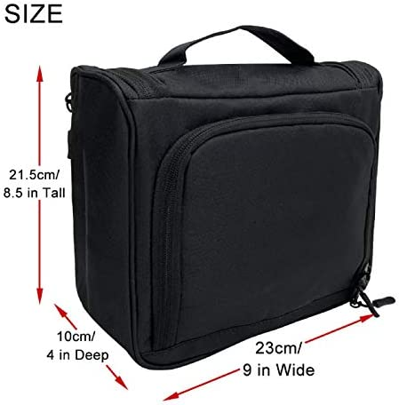 DAMIFAN makeup bag travel bags for women and men travel size toiletries toiletry bag Water-resistant Makeup Cosmetic Bag Travel Organizer for Accessories, Shampoo, Full Sized Container, Toiletries (Black)