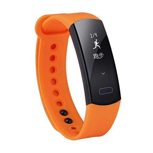 Price comparison product image Boofab Fitness Tracker,  Smart bracelet C07 Smart bluetooth watch band IP67 waterproof blood pressure heart rate monitor step reminder for ios Android (Orange)