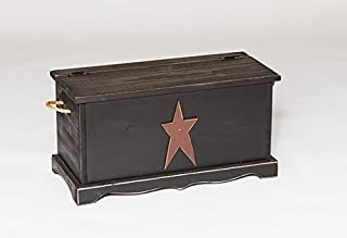 product image for Furniture Barn USA Primitive Rustic Country Storage Chest with Star-Modern Walnut Stain