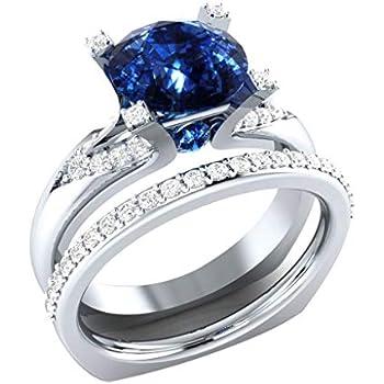 bb8beb4b7ea72 Amazon.com: Barhalk Fashion Luxurious Ring 4 Diamonds Inlaied ...