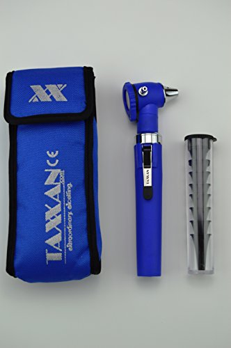 TAXXAN FIBER OPTIC OTOSCOPE SET BLUE PRO ENT DIAGNOSTIC SET OTOSCOPE WITH DISPOSABLE SPECULUM by Taxxan (Image #8)