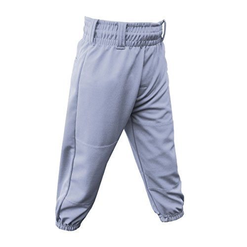 3N2 Clutch Boys Youth Baseball Pants, Grey, Youth X-Large