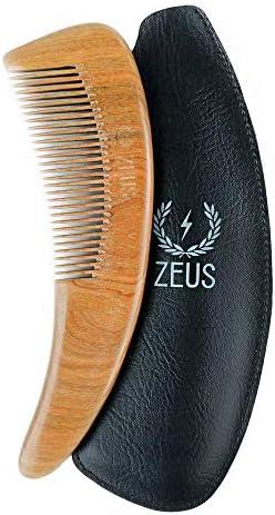 Peine para barba ZEUS Boomerang grande de madera de sándalo con ...