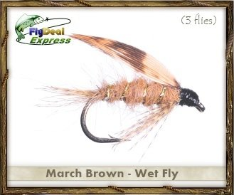 Fly Fishing Flies – 3月ブラウンフライ – 濡れ濡れFly ( 3 - Pack ) 12  B00CEOB8C4