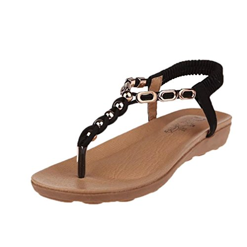Donna Strap Elastico alla Caviglia con Styledresser Nero Sandali Boho Beach T Sandali Donna Sandali Cinturino Estate 5q6T7