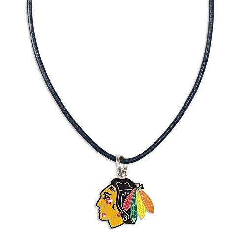 Nhl Chicago Blackhawks Leather - WinCraft NHL Chicago Blackhawks Necklace with Leather