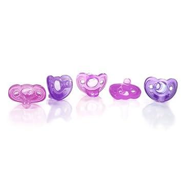 Amazon.com : Gumdrop nacidos chupetes, rosa / púrpura, 5 ...