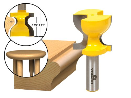 Yonico 18140 Windowsill/Stool Molding Router Bit C3 Carbide Tipped 1/2-Inch Shank