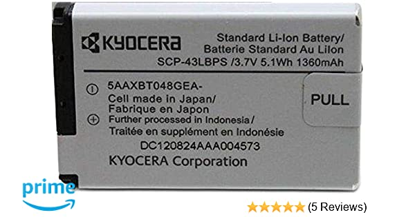 OEM KYOCERA SCP-43LBPS Battery for Duramax E4255 DURAXT E4277 DURAPRO DURACORE