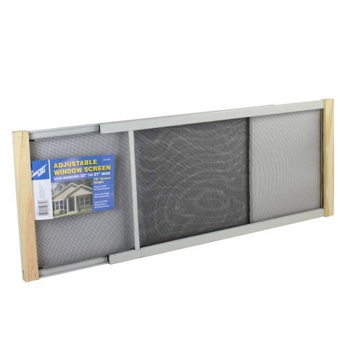 Frost King WB Marvin AWS1037 Adjustable Window Screen, 10in High x Fits 21-37in Wide