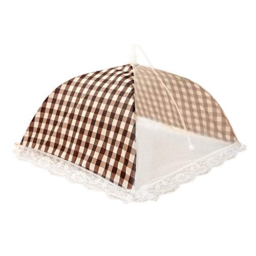 (Tpingfe Kitchen Food Umbrella Cover Picnic Barbecue Party Fly Mosquito Mesh Net Tent New (Coffee))