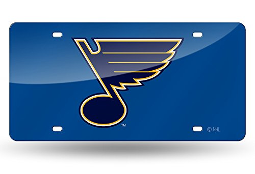 Rico Industries NHL St. Louis Blues Laser Inlaid Metal License Plate Tag, 6