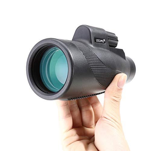 USCAMEL 10x42 High Definition Monocular Telescope Quick Smartphone Holder - Waterproof Monocular -BAK4 Prism Wildlife Bird Watching Hunting Camping Travelling Wildlife Secenery