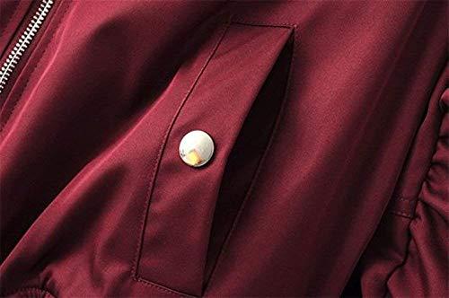 Fashion Primaverile Prodotto Lunga Giubbino Con Pilot Confortevole Autunno Rot Di Cappotto Manica Cerniera Chic Ragazza Giacca Donna Outerwear Elegante Plus Solidi Moda Colori Vintage 5OOAqR