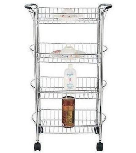 Carrito de cocina con rejillas ovaladas para almacenar, verduras, etc. Con 3 o 4 niveles. Cromado: Amazon.es: Bricolaje y herramientas