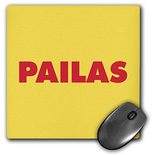3dRose Kike Calvo Colombia Folklore and Traditions - Red Pailas with Yellow Background - Mousepad (mp_299439_1) from 3dRose