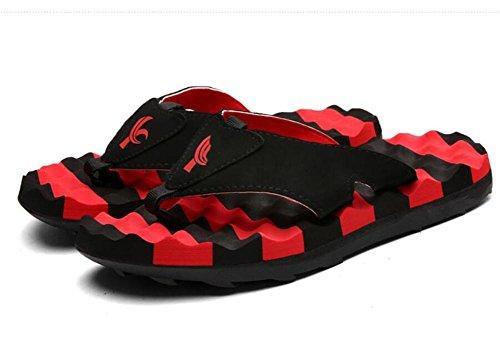 Zapatillas de verano pantalones hombres fresco marea hombres antideslizante personalidad playa parejas al aire libre chancletas Red