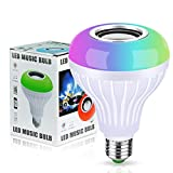 Bluetooth Light Bulb RGBW Bluetooth Speaker Dimmable LED Music Bulb E26 Base Wireless Light Bulb Speaker Bluetooth 4.0 Speaker with Remote Control for Home/Stage
