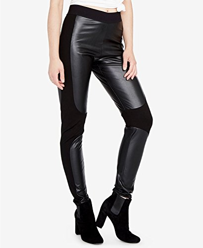 RACHEL Rachel Roy Simone Faux-Leather Stretch Legging (Black, S)