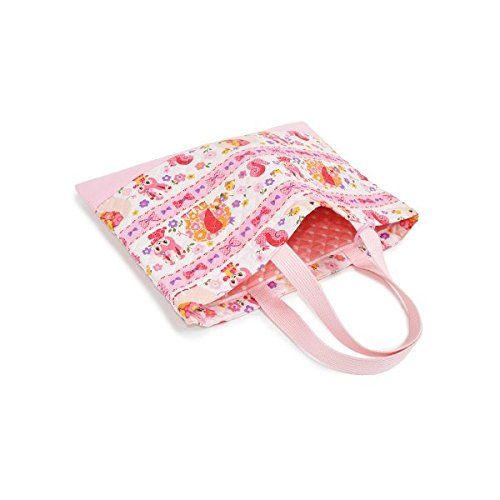 Kids lesson bag of handmade sense (quilting) Flower love Pretty animal friends (pink) made in Japan N0224300 (japan import)