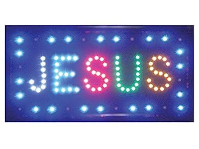 """LED Light Up Display Sign - """"Jesus"""""""