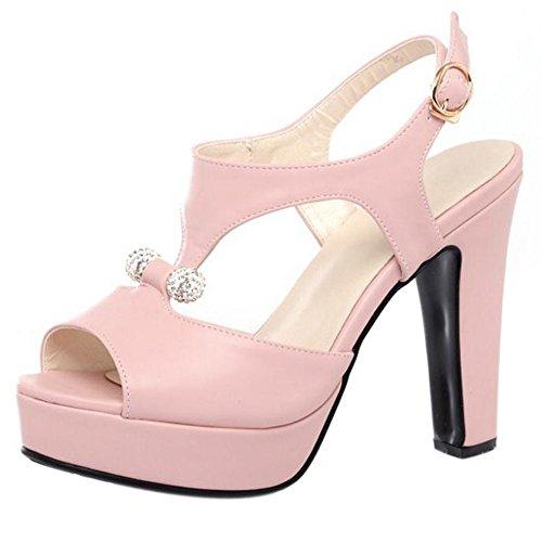 Sandalias rosadas Plataforma Plataforma Peep Toe Slingbacks Sandalias de tacón alto Zapatos de mujer Envío gratuito amplia gama de Sast para la venta Descuentos nfeJXbb2x