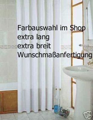 Duschvorhang überlänge duschvorhang weiss 150x220 textil 150 breit 220 hoch inkl ringe