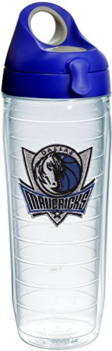 Tervis 1231049 NBA Dallas Mavericks Tumbler with Emblem and Blue with Gray Lid 24oz Water Bottle, Clear by Tervis