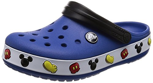 Mickey Denim - Crocs Baby Crocband Mickey Clog, Blue Jean, 9 M US Toddler