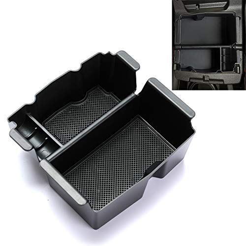 ROCCS Center Console Organizer Insert ABS Black Materials Tray for 2018 2019 Jeep Wrangler JL/JLU 2019 Jeep Gladiator Truck Armrest Storage Box Compartment