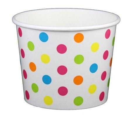 Rainbow Dot Ice Cream Cups 8 oz - 50 count (8 Oz Ice Cream Cups compare prices)