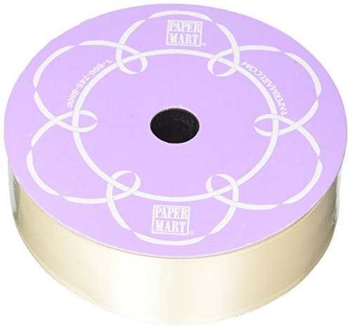 Ivory Double Face Satin Ribbon, 1-1/2