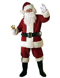 Rubies Costume Velvet Santa Suit with Wig and Beard
