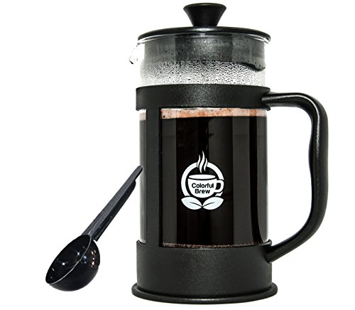 French Press Coffee Maker, Large, 34 Ounces, 8 Cup,  Strongest and Thickest Glass
