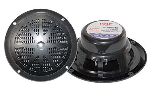 4) NEW PYLE PLMR61B 6.5'' 240W Marine/Boat Dual Cone Waterproof Speakers TWO PAIR