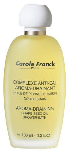 Carole Franck Paris - Aroma-Draining Grape Seed Oil for Bath and Massage 3.3 Fl OZ.